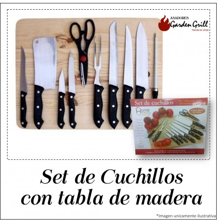Set de Cuchillos con Tabla
